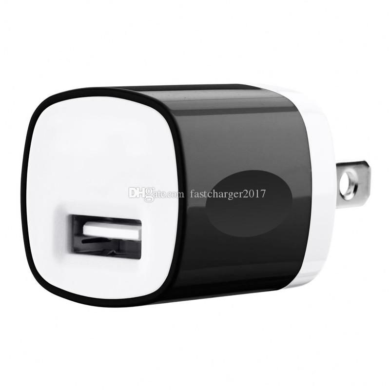 Wall charger 5V 1000mah 1A US Ac home wall charger power adapter for iphone 5 6 7 for samsung galaxy note 2 4 s6 s7 gps mp3 mp4