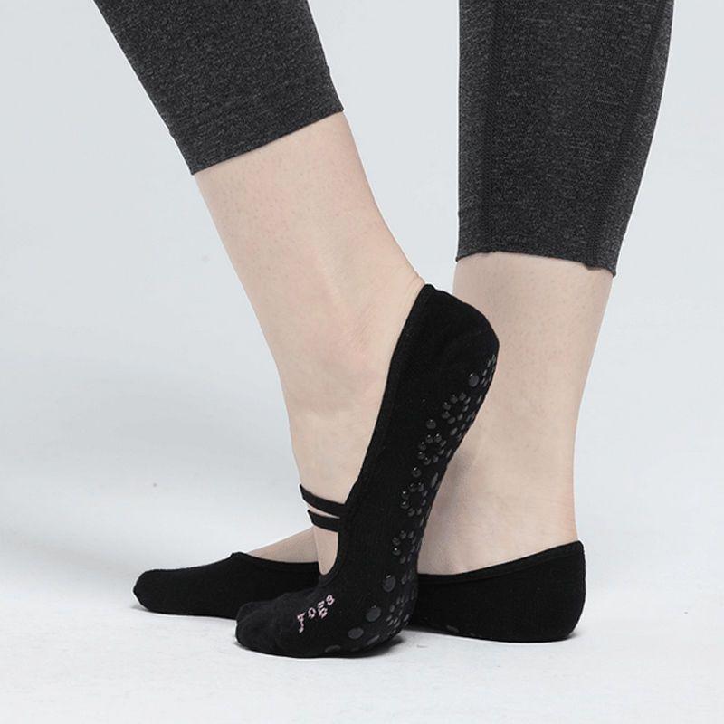 Calcetines calcetines de yoga antideslizantes Calcetines de masaje pilates con agarre gimnasio