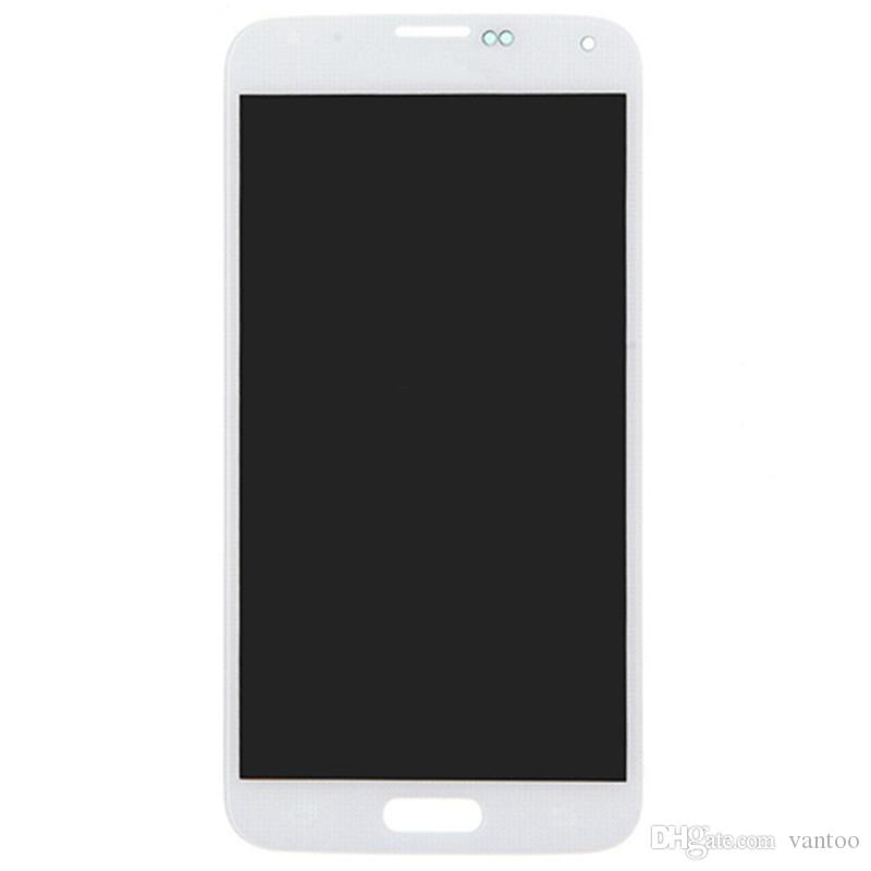 For Samsung Galaxy S5 G900 Original LCD Display Touch Screen Digitizer Assembly Super AMOLED White Black Gold