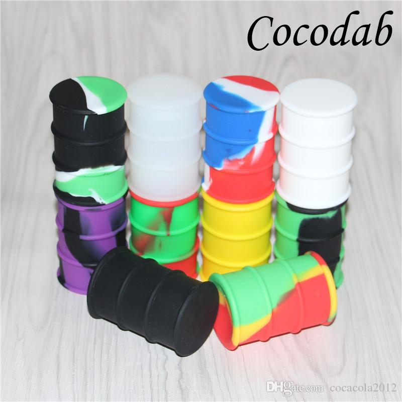 Wholesale Silicone Oil Drum Barrel Wax Containers 26ml Food Grade Concentrate Silicone Dab Container Electronic Cigarette Accessories DHL