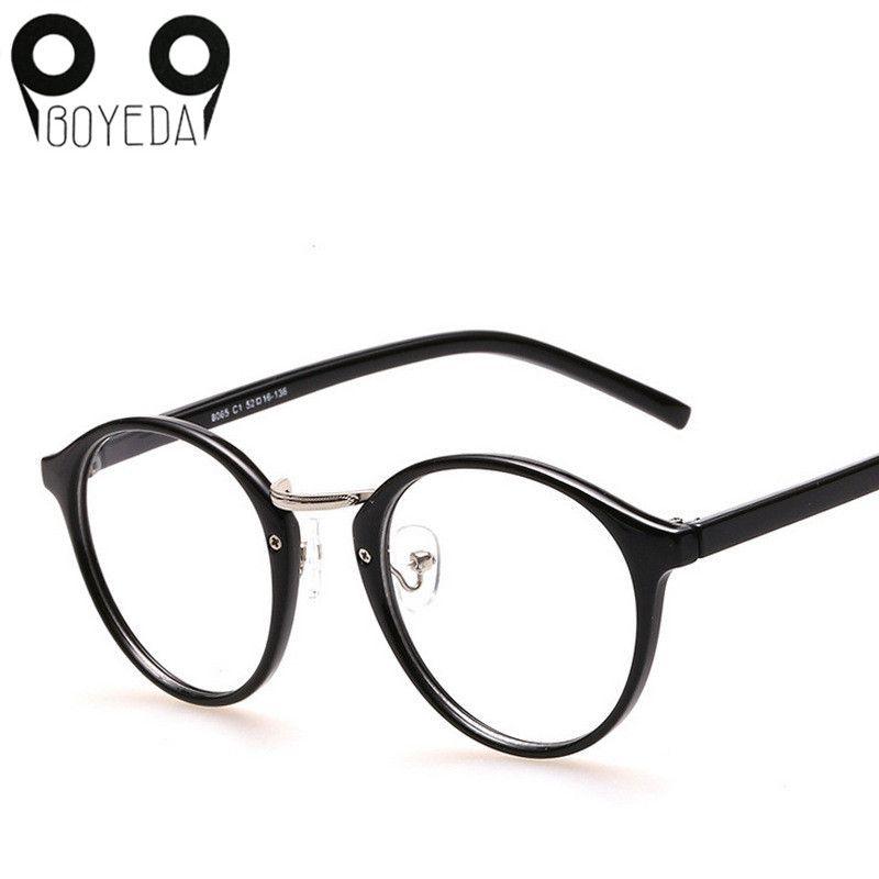 64a88e7dd4 Compre Venta Al Por Mayor Gafas Redondas Retro De Anteojos De Mujer De Moda  De BOYEDA Gafas Con Forma De Gafas Para Mujer Óptica Vintage Espectáculo De  ...