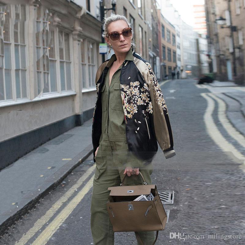 가을 겨울 재킷 여성 꽃 무늬 스카 쟌 자수 공단 재킷 자수 공단 자켓 재킷
