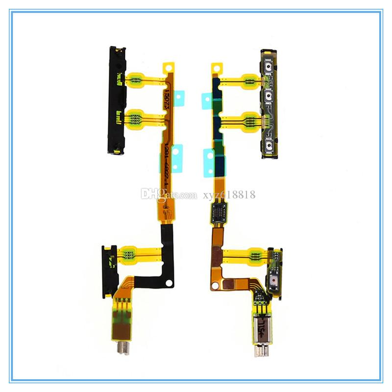 Power On/Off + Volume Button + Vibrator Ribbon Flex Cable Ribbon for Sony Xperia Z3 Compact Z3 Mini D5803 D5833 M55W New Parts Free Shipping