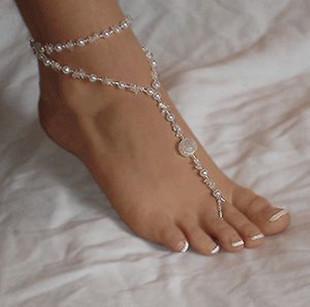 Schöne shinning Perle Perlen Fußkettchen für Frauen, viele Ketten für Strand, Qualität und kostenloser Versand