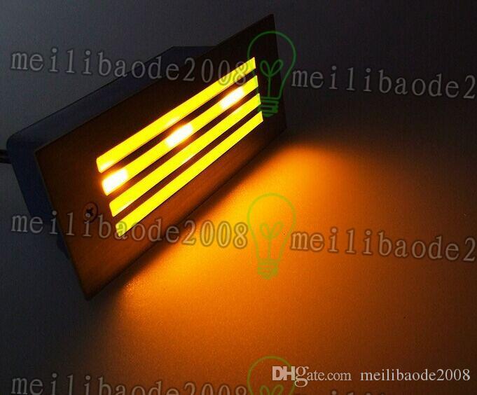 Luzes de parede embutida ao ar livre de luz de parede 3W embutidos lâmpada de luz de escada de LED embutida Luzes de parede ao ar livre embutida ao ar livre de luz de escada de escada de parede 3W