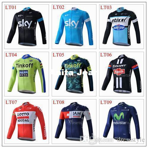 8c773bd42 2015 Newest Tour De France Sky tinkoff quickstep  Cycling Tops Autumn Cycling  Kit Duvel Cycling Jersey for Choice These Soft And Comfortabl Shirts And  Mens ...