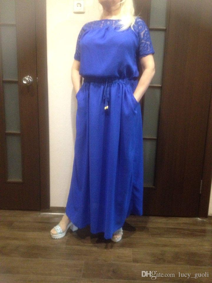 Short Sleeve Lace Summer Dress big sizes 2016 new Women summer Plus Size long dress maxi party dress Casual dress vintage vestidos L-5XL-6XL