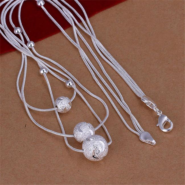 Collana in argento sterling STSN220, collana in argento 925 di moda, collana in argento 925, collana in argento 925