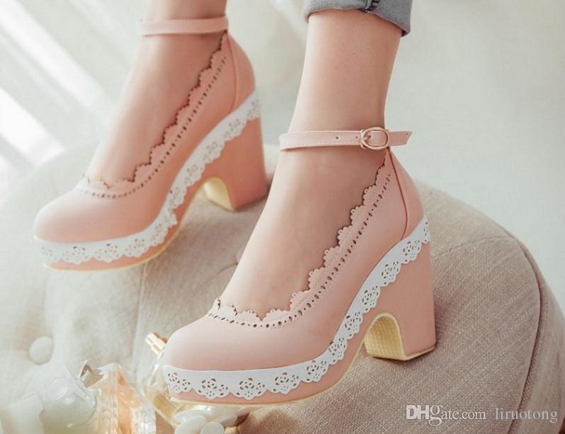 Compre El Período De Primavera Y Otoño Y La Princesa De Boca Baja Zapatos  De Mujer 1a57f2bbc9f9