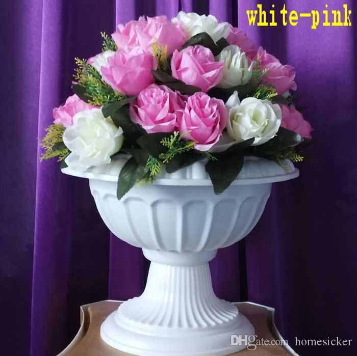 36 Stück Blumenkopf für einen Blumenstrauß Mode Hochzeit römischen Spalte Straße führt Blumen für Hochzeit Hintergrund Dekorationen