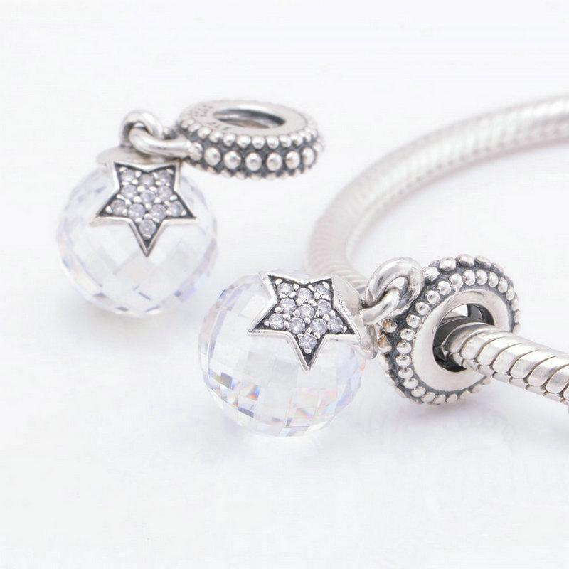 Christmas White charms thread S925 sterling silver material fits pandora bracelets antique ale LW410H9
