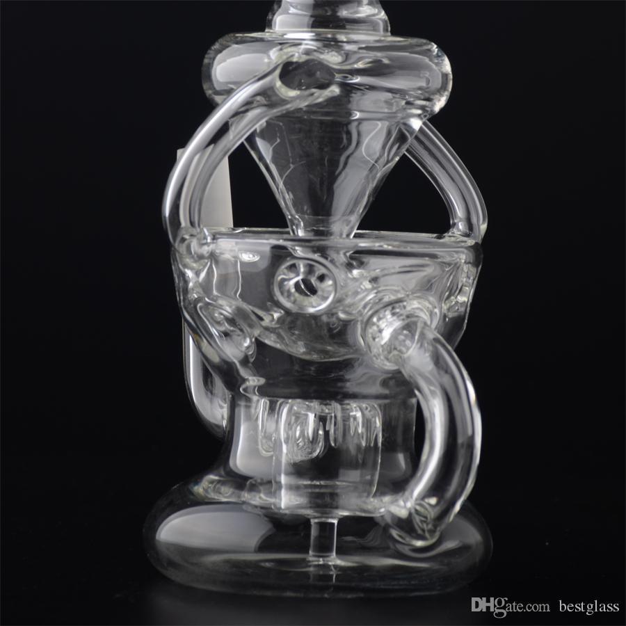 Nuevo diseño de bola de cristal doble reciclador Fab Faberge Egg Bottom cabeza de ducha Prc viene con domo de uñas BestGlass S12