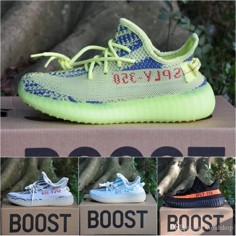 22f2c959a4367 2018 Originals Adidas Yeezy Boost Sply 350 V2 Running Shoes Cheap Bb1826  Zebra Cream White Core Black Non Slip 550 Sport Shoes From Holdshop