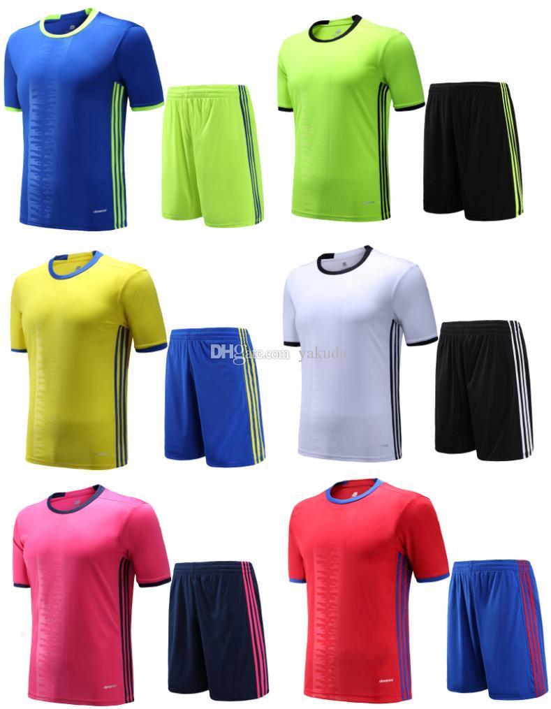 Compre Venta Al Por Mayor Equipo De Fútbol Personalizado 2016 Nuevos  Camisetas De Fútbol 7b60e6138487e