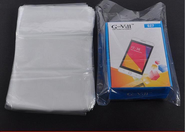 DHL SF_EXPRESS تقليص التفاف أكياس بيضاء فيلم POF التفاف مستحضرات التجميل التعبئة والتغليف حقيبة فتح أعلى البلاستيك ختم الحرارة التعبئة الحقيبة يتقلص حقيبة التخزين