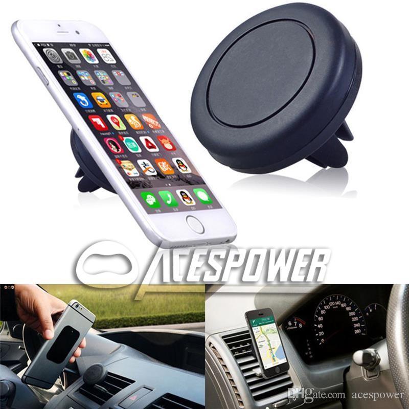 Auto-Mount-Luft-Entlüftungsmagnet Universal-Telefonhalter für iPhone x 8 plus Samsung-Galaxie S10 HINWEIS10 Ein Schritt Montage Magnetischer sicherer Fahren