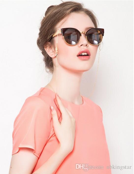/ 금속 골든 크로스 안경 체인 코드 폭스 크로스 선글라스 매는 밧줄 체인 무료 배송