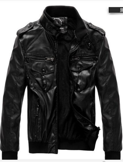El grueso de capa de la chaqueta de cuero de los nuevos hombres y el cuero de hombre del terciopelo cultivan la capa locomotora de la moralidad de uno de los hombres / venta al por mayor grande