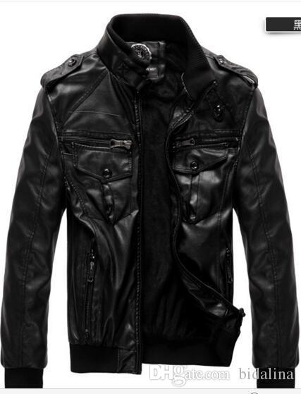 Épaisseur de manteau de veste de cuir de nouveaux hommes et homme de cuir de velours cultiver sa moralité locomotive manteau / gros gros