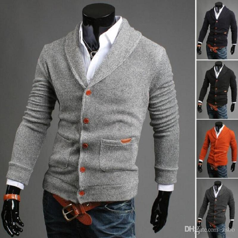 1fe85aca09 2019 2017 Fashion Men S Sweater Cardigan Sweater V Neck Knitting Outerwear  Sweaters Casual Double Breasted Boutique Male Sweaters WY04 RF From Zsbo