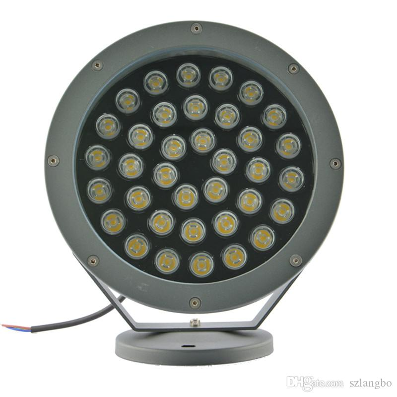 Round Type High Power LED Flood Light Filled with Glue Inside IP67 Waterproof AC100-245V Input with Powder Coating Process Surface