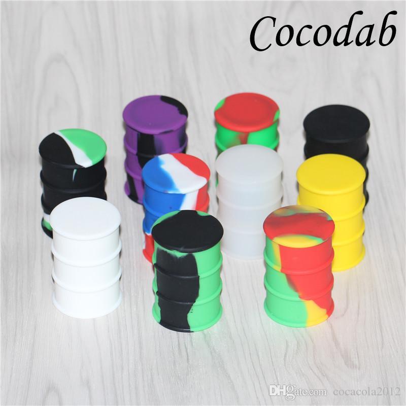 Silicone Oil Drum Barrel Containers 26ml Non-stick Concentrate Silicone Dab Container Wax Electronic Cigarette Accessories DHL