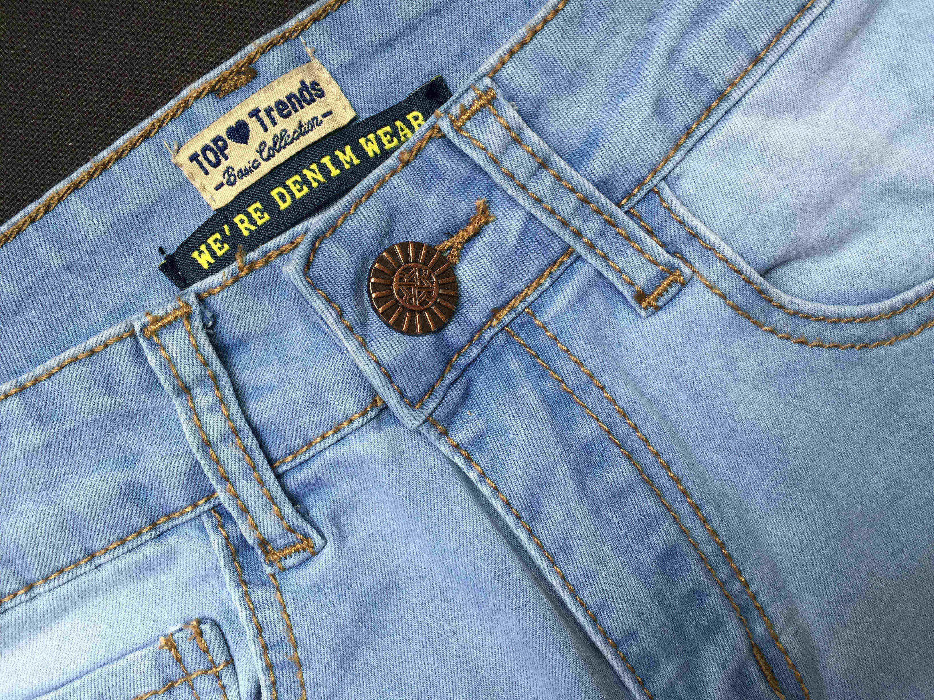 2016052920 Nueva llegada rasgado gran agujero borlas jeans de cintura alta lavados pantalones de mezclilla largos pantalones tallas grandes mujeres