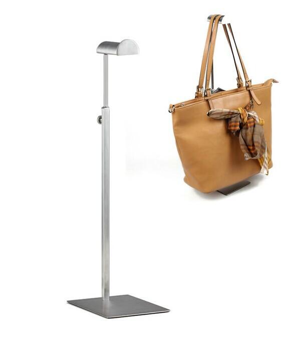 Hot sale High quality Stainless steel Women bags display rack Hair accessories Silk scarf handbag display stand holder ZC-01