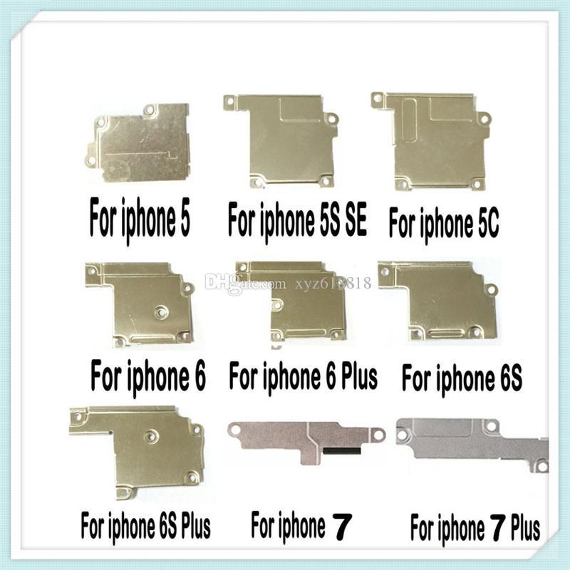 عالية الجودة جديد شاشة lcd فليكس كابل معدني wifi الهوائي غطاء لوحة حامل القوس ل فون 5 جرام 5 ثانية 5c se 6 6 زائد 7 6 ثانية 6 ثانية زائد