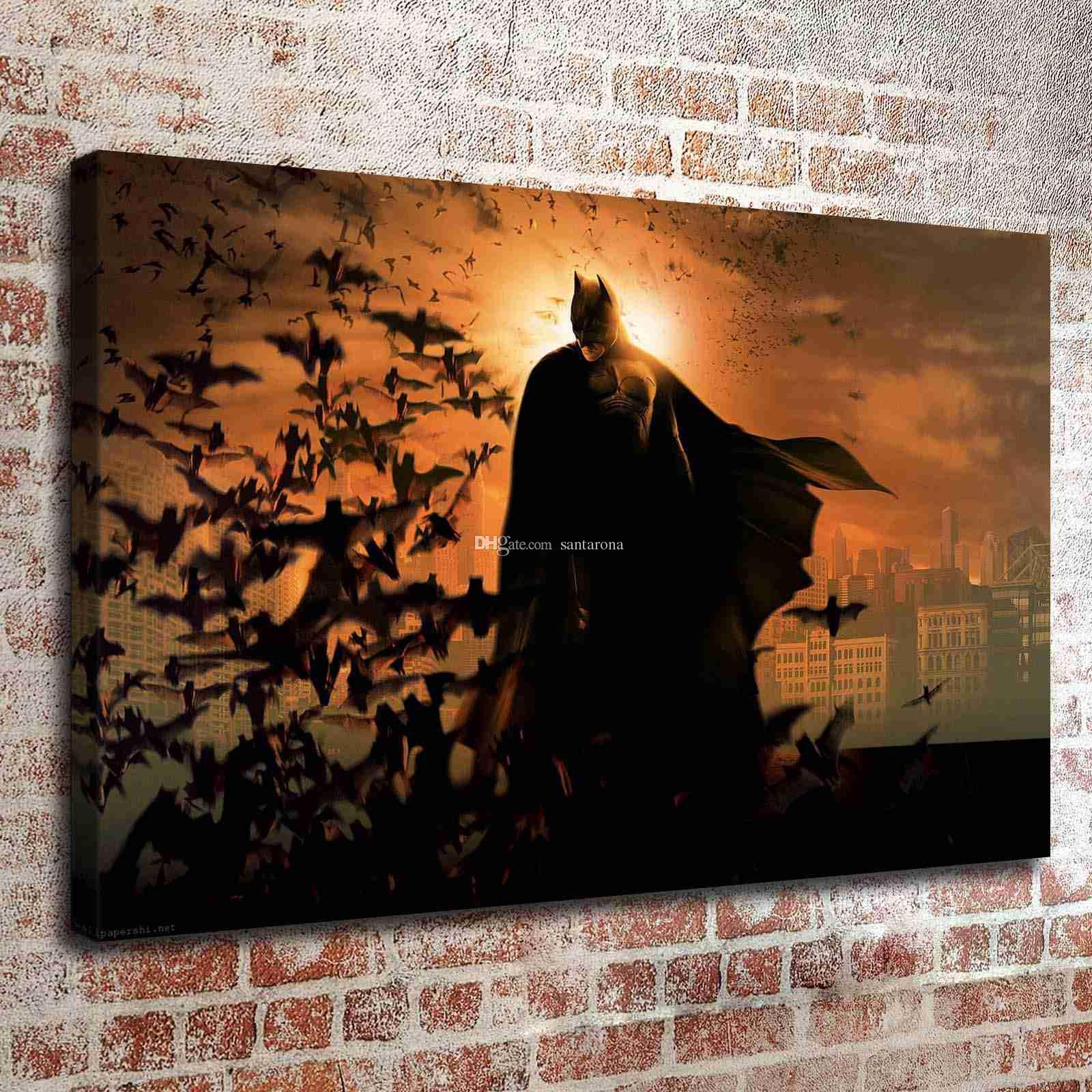 Compre Sin Marco Batman Hd Impresión De La Pared De Arte De La Pared ...