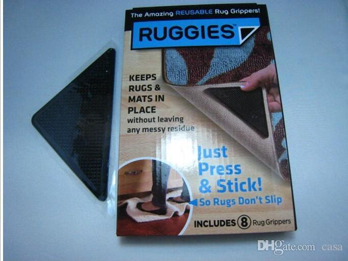 RUGGIES Reusable Rug Grippers Set Of 8 Free Shipping 500set/lots