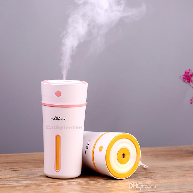 300 мл новая чашка увлажнители эфирное масло диффузор ультразвуковой аромат прохладный туман светодиодный увлажнитель для офиса спальня детская комната с розничной коробке