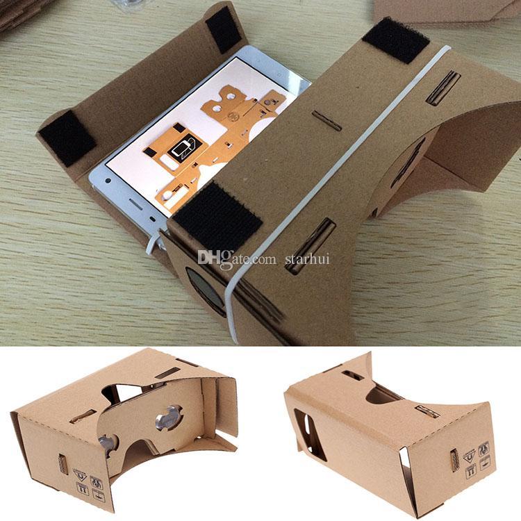 Google Cardboard 3D 안경 DIY 휴대 전화 가상 현실 3D 안경 비공식 골판지 Google 골판지 VR 툴킷 3D 안경 WX-G10