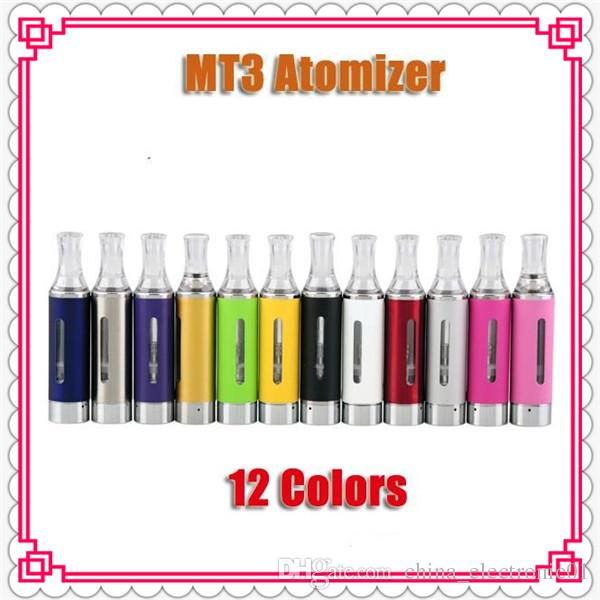MT3 EVOD ATOMIZER EGO CLEAROMIZER COLORFUL CARTOMIZER BCC ECVV ELECTRONIC CIGARETTE MATH WITH EGO-T EGO-W TWIST BATTERY DHL Free