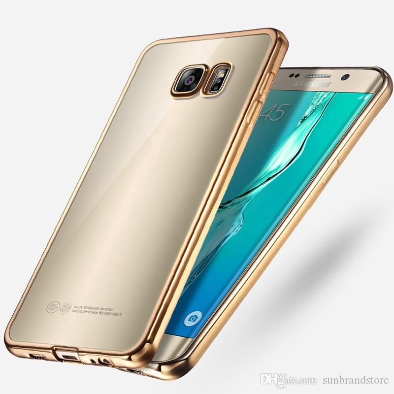 Pour Samsung S7 Edge De Luxe style Placage TPU Téléphone Case Pour Samsung Galaxy S7 S7 bord silicone souple Couverture Arrière