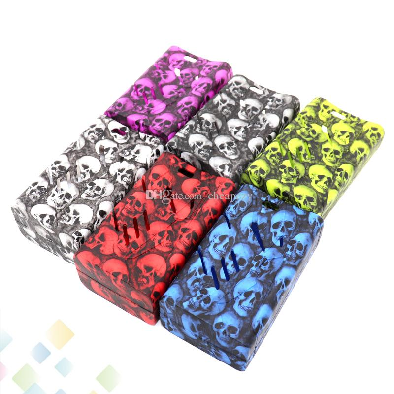 Skull Case T-Priv 220W Box Mod Proect Case Skull Head Soft Silicone Rubber Carry Bag Cover for T-Priv 220 Mods DHL Free