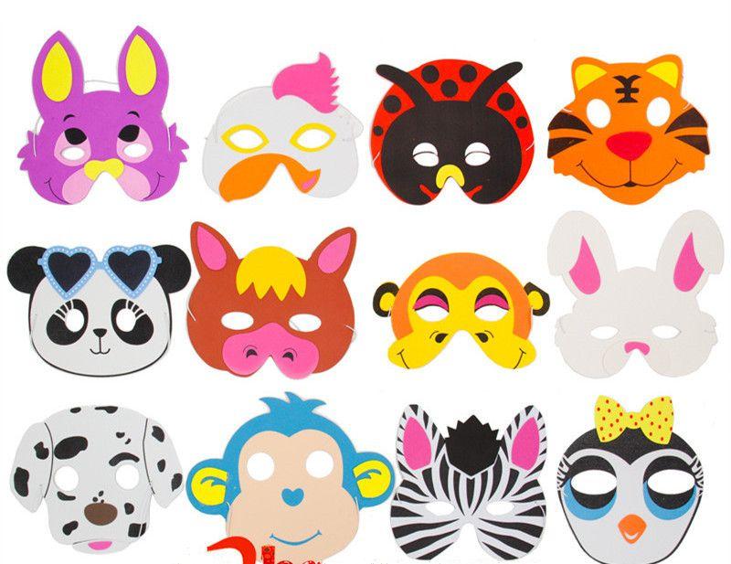 Spielraum auf Lager bester Verkauf Großhandel Neue Tiermasken Kinder Weihnachten Halloween Geburtstagsparty  Sortiert EVA Schaum Cartoon Tier Masken Festliche Lieferungen Von ...