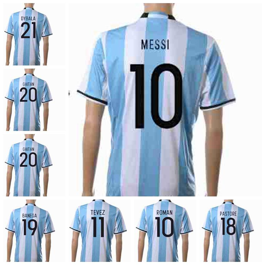 bc47b0eff78 2017 10 Messi Jerseys Argentina 2016 17 Soccer Jerseys Top Thailand Quality Men  Soccer Shirts National ...