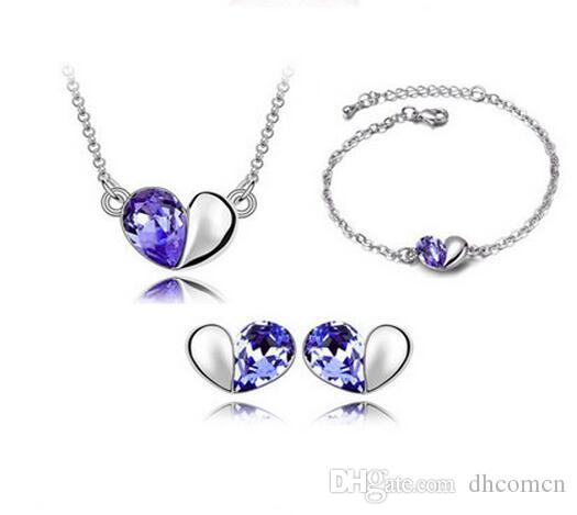 Sterling Silver Genuine Amethyst Necklace And Earrings Utmost In Convenience Fine Jewelry Sets