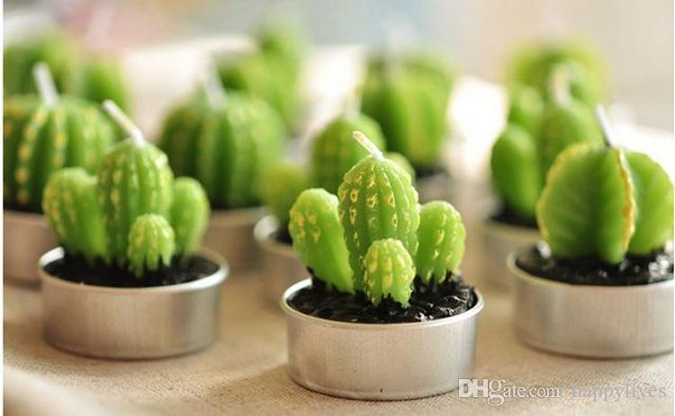 Cactus Plant Candles Cactus Plant Grape Candles Compleanno Decorazioni di nozze Cena Candle Decoration Paraffin Candele creative