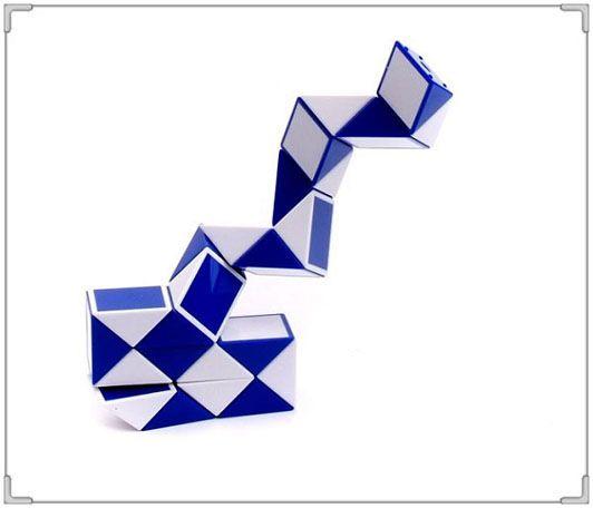 DHL Mini Cubo Mágico New Hot Snake Forma Toy Game 3D Puzzle Cube Torção Puzzle Brinquedo de Presente de Inteligência Aleatória Brinquedos Supertop Presentes WX-T17