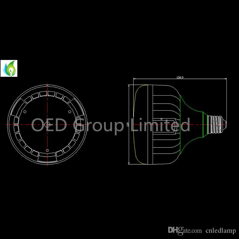 E26 E27 Faretto LED PAR38 impermeabile IP65 34W AC100-277V con 4500LM CE RoHS elencato 130LM / W