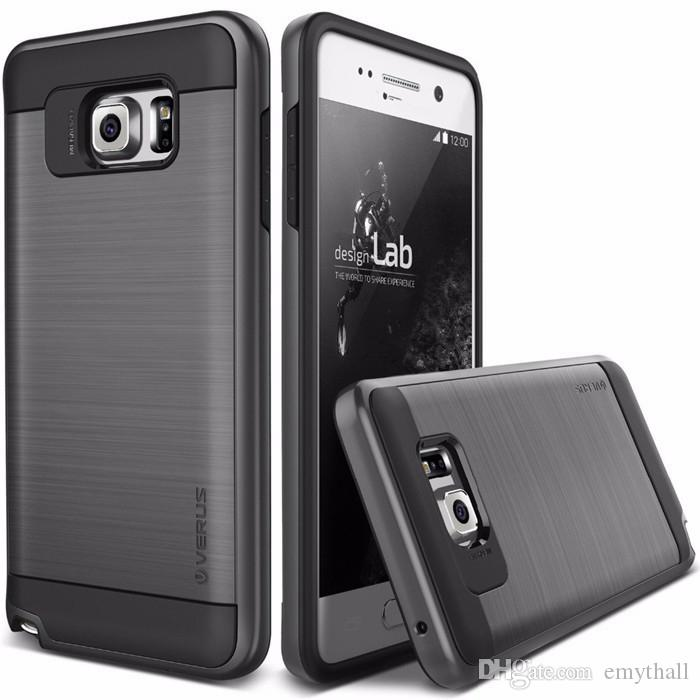 V erus iPhone X 8 7 Galaxy S8 Note 8 Armor Caso spazzolato Rugged Dual Layered Anti-Shock Custodia rigida antiurto Galaxy S7 Edge J7 2017