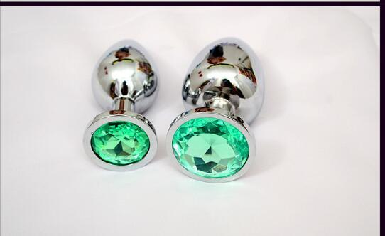 big Sizes Metal Anal plug Stainless Steel Metal Anal Plug With Diamonds Anal Dildo Sex Toys anal Plug For Women