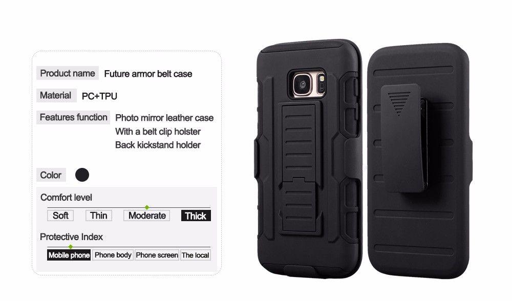 Rugged Military Future Armor Case with Belt Clip Holster Kickstand HTC M8 M9 LG G3 G4 LS770 Grand Prime Nexus 6P