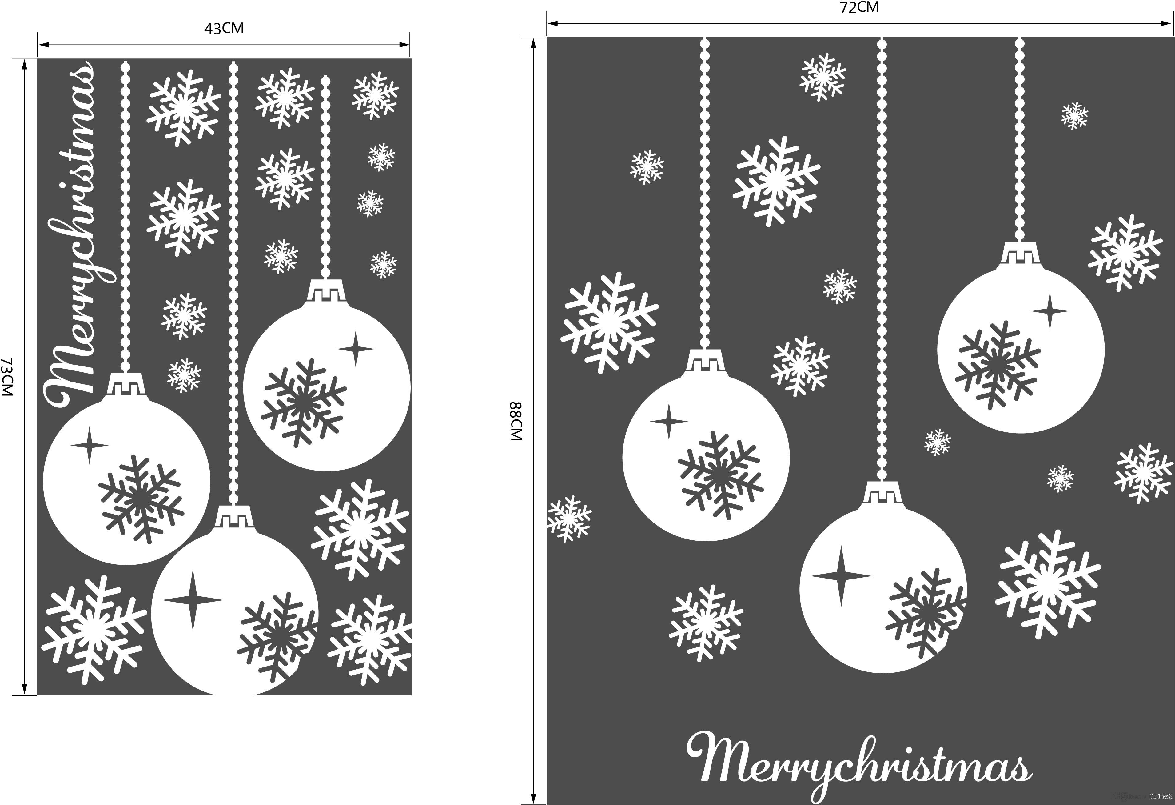 M-1 Christmas Snowflake Lantern Vinyl Wall Stickers Vinyl Xmas Merry Christmas Lamp Light Quote Removeable Decal for Baby Kids Shop Window