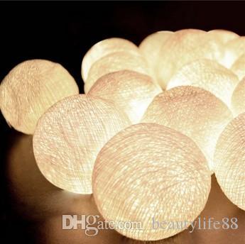 2M 20 LED 코 튼 볼 LED 문자열 조명 휴일 크리스마스 결혼식 파티 커튼 장식 조명 드롭 따뜻한 흰색 빛