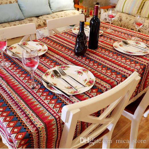 Whole Mediterranean Style Table Cloth Square Linens Tablecloths Cotton  Printed Dining Table Cloth For Wedding Home Hotel Picnic Outdoor 120 Round  Tablecloth ...