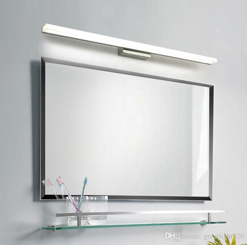 Großhandel Badezimmer Spiegel Licht LED Wandleuchte Spiegel Front Make Up  LED Beleuchtung Wasserdichte Antifog Acryl LED Wand Spiegel Licht # 02 Von  ...