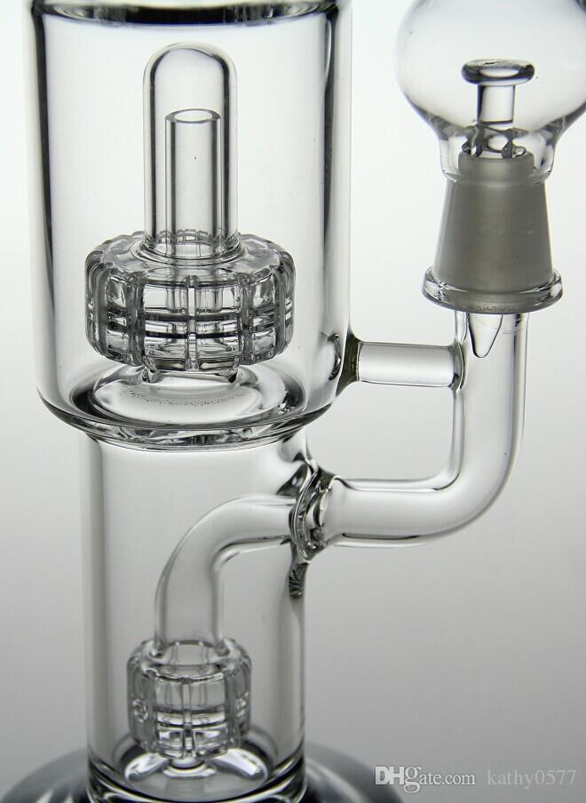 Bong! 9,5 pouces Bang avec double Matrix Perc Water Pipe14.4mm jont bonne qualité